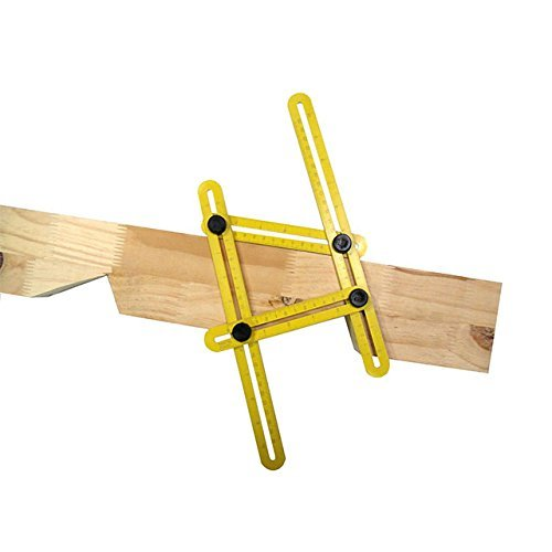 NOT FROM CHINA Template Tool Multi-Angle Ultimate Ruler General Measuring All Angles and Forms - Instrument for Builders Craftsmen Tilers Handymen Carpenter Roofers DIY
