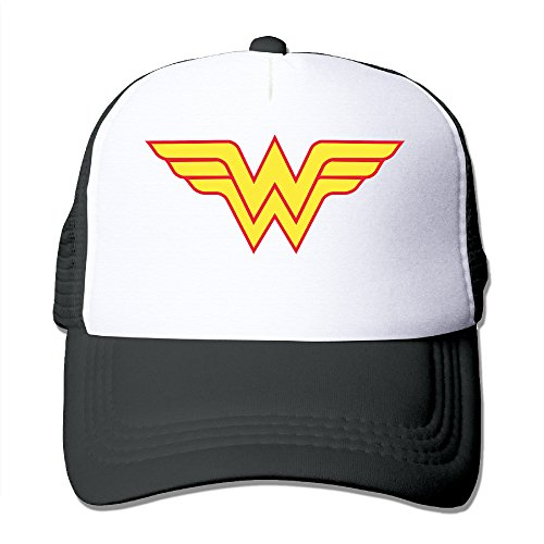 [Elnory Avengers Wonder Woman Logo Funny Sun Hat Black] (Marvin The Martian Costume Shoes)