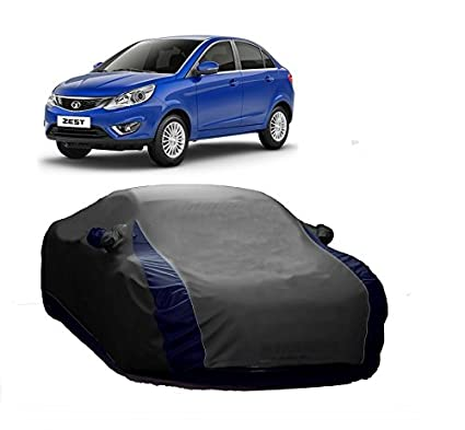 Motrox Sporty Grey Car Body Cover For Tata Zest And Triple