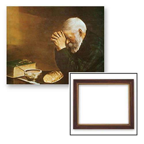 Gerffert Collection Grace Religious Framed Inspirational Print, 13 Inch (Wood Tone Finish Frame) by Gerffert Collection