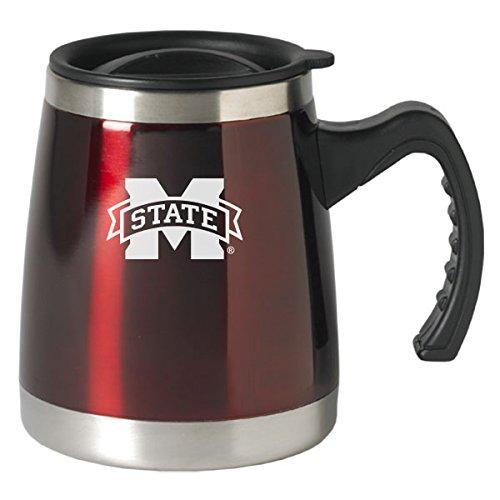 Mississippi State University - 16-ounce Squat Travel Mug Tumbler - Burgundy
