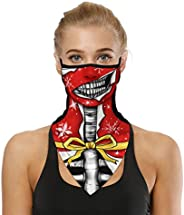 UN UNITEDTIME Face Bandana Neck Gaiter with Ear Loops, UV Sun Protection Reusable Triangle Mask Scarf Cycle