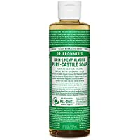 Dr. Bronner's Organic Liquid Soaps Almond at Least 70% Organic, 8 Ounce