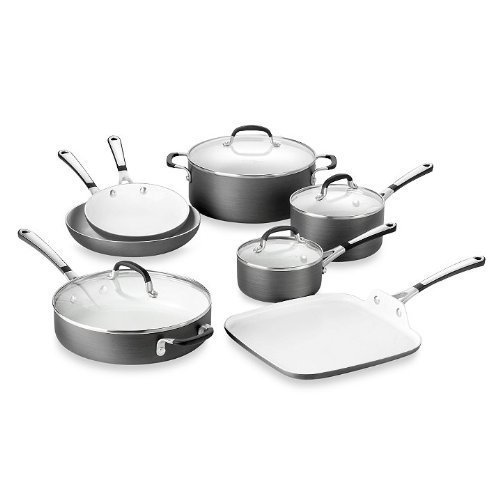 Simply Calphalon Ceramic Nonstick 11-Piece Cookware Set