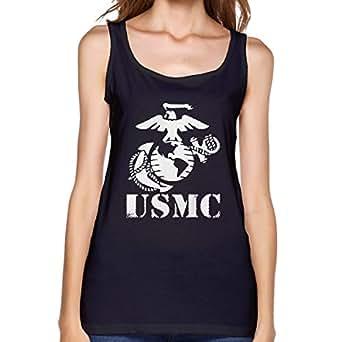Amazon.com: DONGLY Women's Cotton Vest USMC Marine Corps