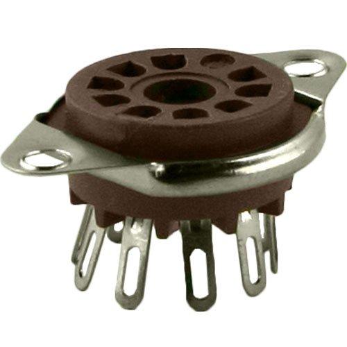 9 Pin Belton Micalex Vacuum Tube Socket, Bottom Mount, .75