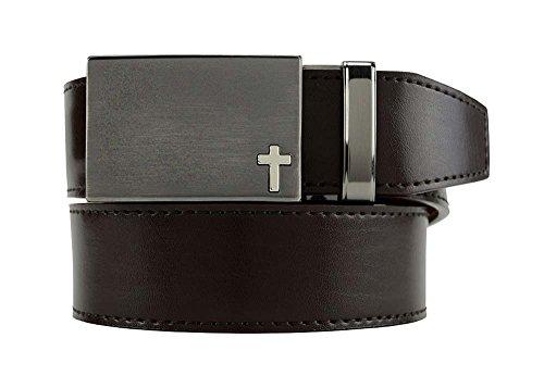 NEW Nexbelt Classic Series Faith Cross #2 Cut to Fit Espresso Brown Golf Belt