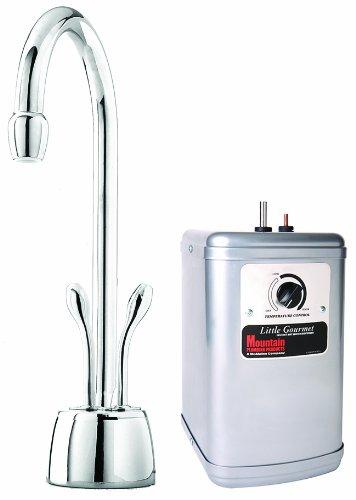 Self Closing Centerset - Mountain Plumbing 650DIYNLBRN Instant Hot/Cold Water Dispenser with Heat Tank, Brushed Nickel