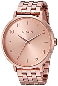 Nixon Women's 'Arrow' Quartz Metal and Stainless Steel Watch, Color:Rose Gold-Toned (Model: A1090897-00)