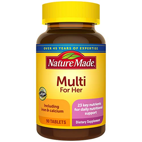 Nature Made® Women's Multivitamin Tablets, 90 Count for Daily Nutritional Support