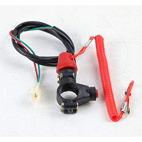(22MM Tether Line Closed Kill Switch Dirt Pit Bike ATV 50CC 110 125CC Buggy new)