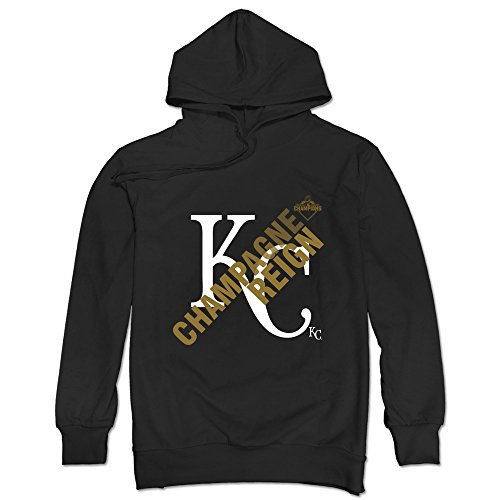TonyGray Men's KC Royals Champagne Reign Hoodies Black New