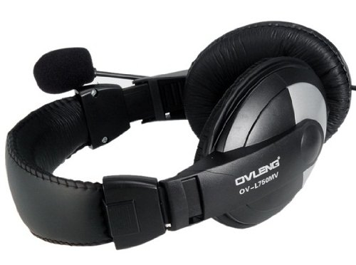 Amazon.com: Ovleng Ov-l750mv 3.5mm Clavija Estéreo Voz Auriculares Con Micrófono Y Cable De 1,8 M (Negro): Home Audio & Theater