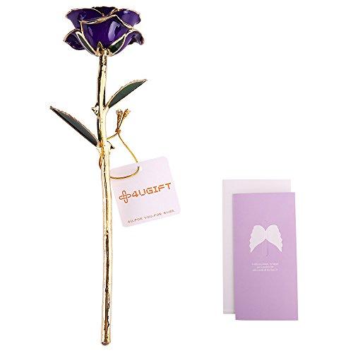 24k Golden Rose Foiled Mother's Day Gift Lover Women Golden Rose Real Forever Flowers Wedding/Party Decoration
