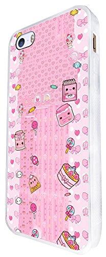 1366 - Cool Fun Trendy Cute Kawaii Playful Kittens Cats Pets Design iphone SE - 2016 Coque Fashion Trend Case Coque Protection Cover plastique et métal - Blanc