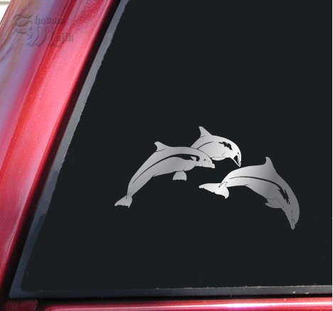 Leaping Dolphins Vinyl Decal Sticker (6