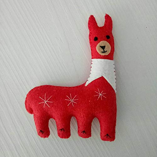Christmas Llama.Amazon Com Christmas Llama Filz Llama Felt Llama Pretend