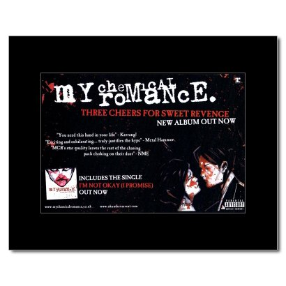 My Chemical Romance - Three Cheers For Sweet Revenge Matted Mini Poster