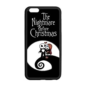 "LeonardCustom Protective Hard Rubber Coated Cover Case for iPhone6 Plus 5.5"", Nightmare Before Christmas Jack & Sally -LCI6PU113 hjbrhga1544"