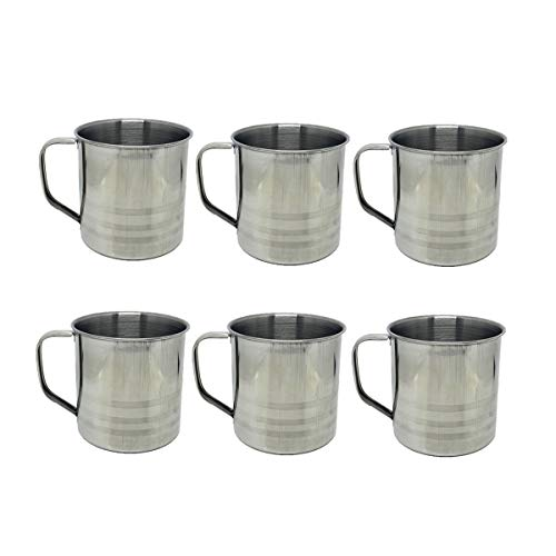 Tsyware 6 Pack 16oz Unbreakable Stainless Steel Camping Coffee Mug Drinking Soup Cup,16 Ounce Each