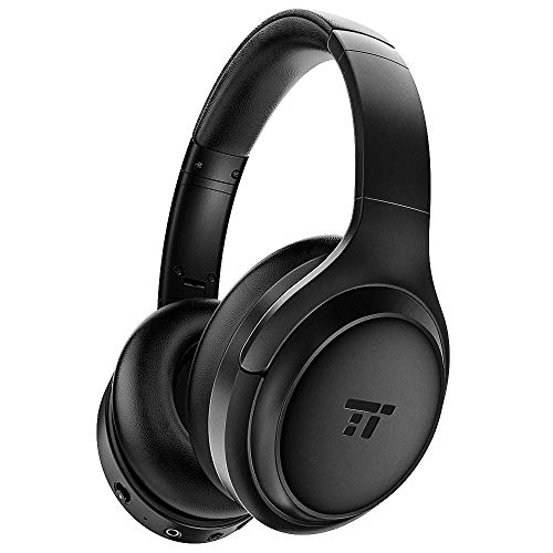 TaoTronics Active Noise Cancelling Headphones [2019 Upgrade] Bluetooth Headphones Over Ear Headphones Hi-Fi Sound Deep Bass, Quick Charge, 30 Hours Playtime for Travel Work TV PC Cellphone (Headphones Comfortable Ear)