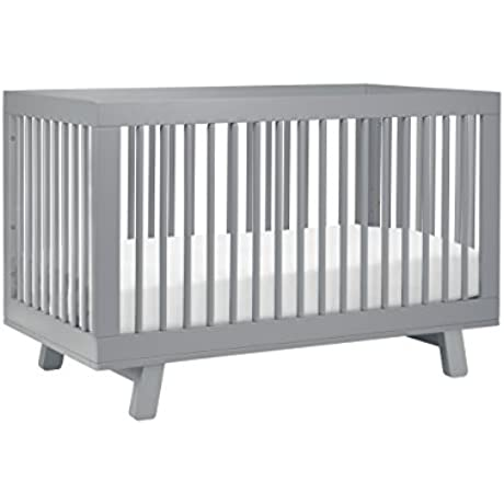 Babyletto Hudson 3 In 1 Convertible Crib With Toddler Bed Conversion Kit Grey