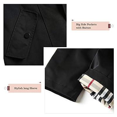 SaphiRose Women's Long Hooded Rain Jacket Outdoor Raincoat Windbreaker: Clothing
