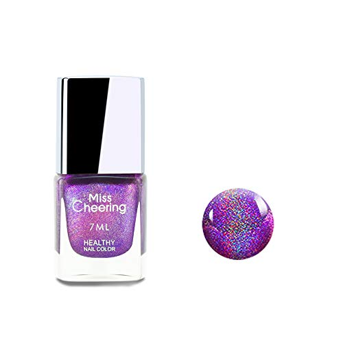 Ownest Holographic Nail Polish, Gorgeous Glossy Holographic Halo Glitter Polish Nail Art Nail Pigment Diamond Laser Nail Polish -LS07 from Ownest.