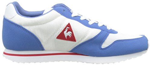 Le Coq Sportif Women's Alice S/Nylon Low-Top Sneakers, Marshmallow/Black White (Optical White/Rivier Optical White/Rivier)