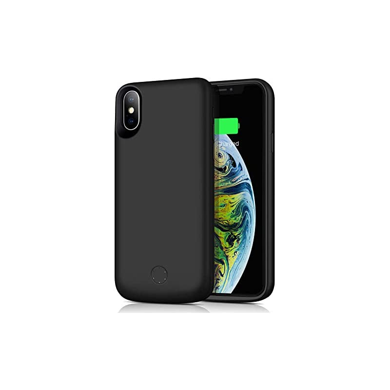 f491c1e79 Battery Case for IPhone Xs Max, ZTESY 6000mAh Capacity Portable Charging  Case Rechargeable Extended Battery Pack Protective Backup Charger Case  Cover for ...