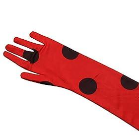 - 418FdBmWsFL - Kids Zip Miraculous Ladybug Cosplay Costume Halloween Girls Ladybug Marinette (S)