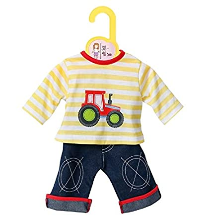 Dolly Moda Baby Born Annabell Puppenkleidung Jeans mit Shirt 38-46 cm Zapf