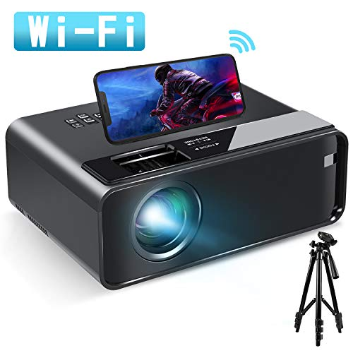 Mini Projector for iPhone, ELEPHAS 2020 WiFi Movie Projector with Synchronize Smartphone Screen, 1080P HD Portable…