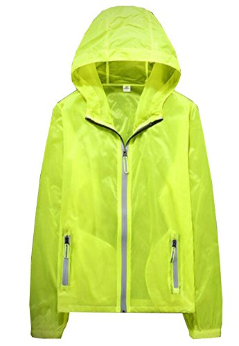 George Jimmy Waterproof Luminous Sun Protective Feather Clothing Cycling Climbing Long Sleeve Shirts-Yellow by George Jimmy