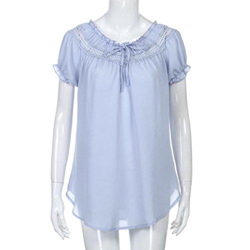 Top de Soie Yoga Bleu Shirt Mousseline en Beikoard de Dcontracte d't Dames Bohme Sexy Blouses lgance Femme T Tops Sport Haut Chemises Rz1XE