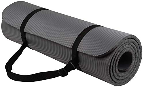 BalanceFrom BFGY-AP6GY Go Yoga All Purpose Anti-Tear Exercise Yoga Mat with Carrying Strap, Gray (Omega Yoga Mat)