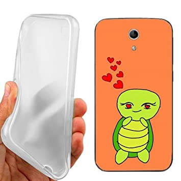 CUSTODIA COVER CASE CASEONE LOVE TURTLE PER VODAFONE SMART 4 TURBO