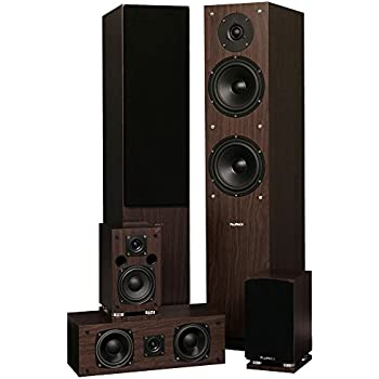 Fluance SXHTBW High Definition Surround Sound Home Theater 50 Channel Speaker System Including Floorstanding Towers Center And Rear Speakers Natural