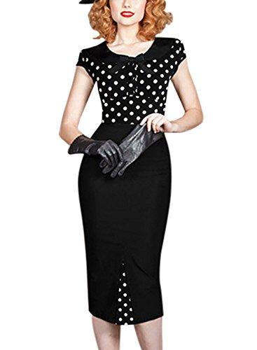 Sparkling YXB - Vestido - Noche - Sin mangas - para mujer Polka Dots