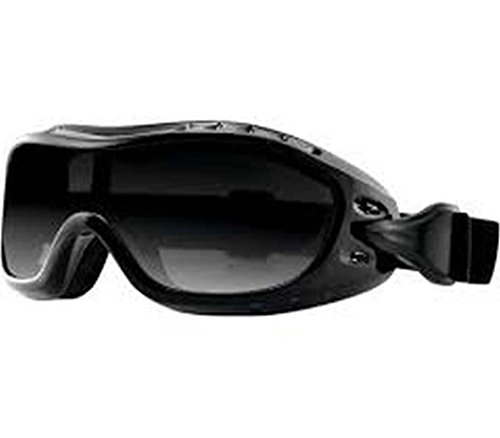 Bobster Night Hawk OTG Adult Harley Touring Motorcycle Goggles Eyewear - Black/Smoke/One Size Fits All