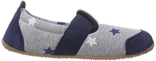 Living Kitzbühel T-Modell Streifen - pantuflas de lona niño gris - Grau (620 hellgrau)