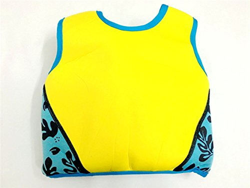 Rayma Baby UPF 50+ Life Jacket New Swimming Learner Protection Vest New Added Cross Belt for Safety For Baby New Added Cross Belt Package With Arm Bands Beach Bag (Print Blue, S 20-33lbs) by Rayma (Image #5)