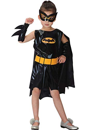 Batgirl Halloween Costume Ideas (NonEcho Batgirl Child Costume for Girls - Batman, Large)