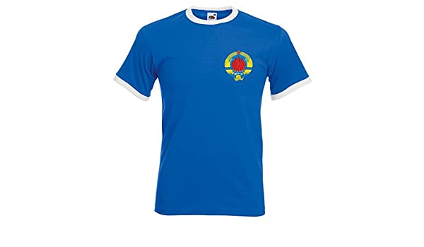 Camiseta de fútbol de Yugoslavia para hombre multicolor Royal Blue and White XX-Large: Amazon.es: Ropa y accesorios