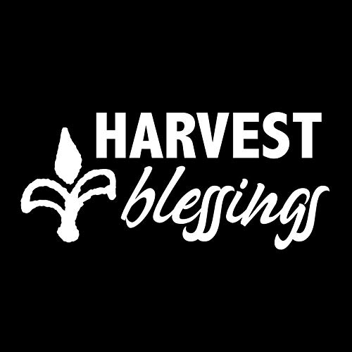 Creative Concepts Ideas Harvest Blessings Corn CCI Decal Vinyl Sticker|Cars Trucks Vans Walls Laptop|White|5.5 x 3.0 in|CCI2544 (3 Men And A Baby Ghost In Window)