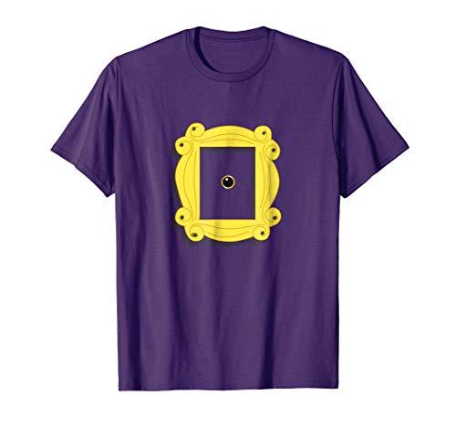 Friend Peephole Purple Door Gold Frame T Shirt