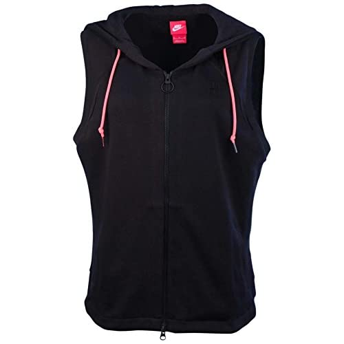 2e1bf6a808ac hot sale Nike Women s Nike Court Hooded Sleeveless Tennis Vest-Black ...