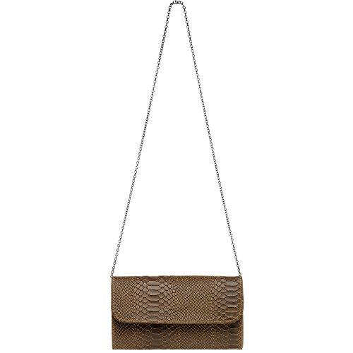 CASPAR Fashion - Cartera de mano para mujer marrón