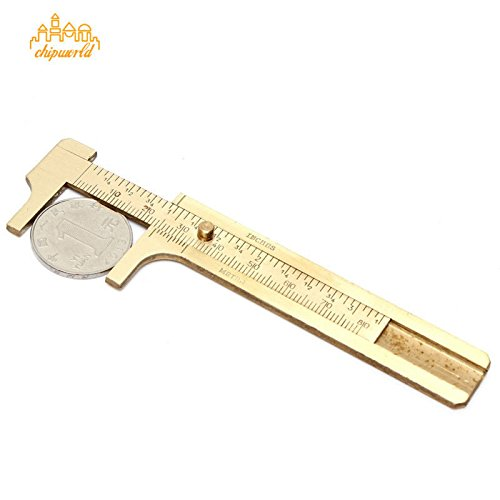 Metee: Measurement Tool Pocket 80mm/3.15inches Mini Brass Sliding Gauge Vernier Caliper