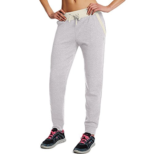Champion Women's Fleece Jogger Pants_Oxford Heather/Oatmeal Heather_M